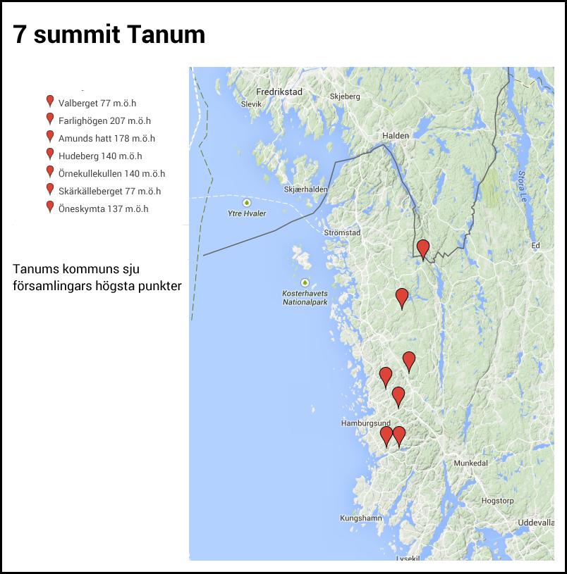 Karta seven summits tanum
